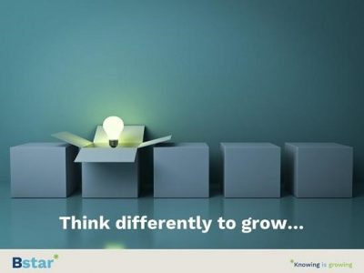 Think differently to grow….